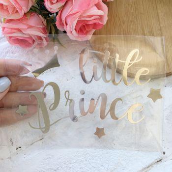 """Надпись """"Little Prince"""", цвет Silver metallic"""
