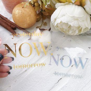 "Надпись ""Yesterday.Now.Tomorrow"", цвет Gold metallic"