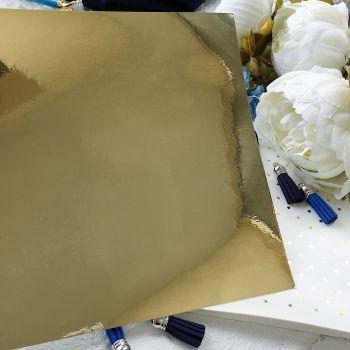 Виниловая пленка 30*30 см, глянцевое золото