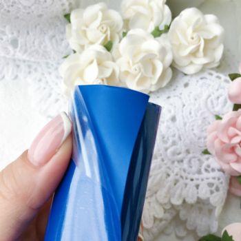 Термотрансферная пленка матовая , цвет Royal Blue 10*25 cм