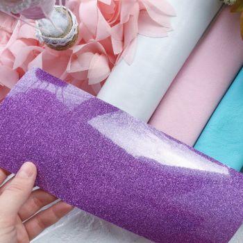 Термотрансферная пленка с глиттером, цвет Lavender 10*25 cм