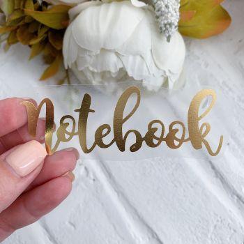 "Надпись ""Notebook"" 2, цвет Gold Foil metallic"