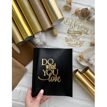 """Надпись """"Do what you love"""" 2, цвет Gold Foil metallic"""