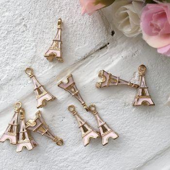 """Подвеска """"Эйфелева башня"""", цвет розовый"""
