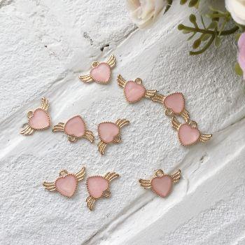 """Подвеска """"Сердце"""", цвет розовый"""