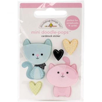 3D наклейка Bitty Kitties - Doodlebug Doodle-Pops 3D Stickers