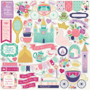Наклейки Once Upon A Time Princess Cardstock Stickers 30*30 см