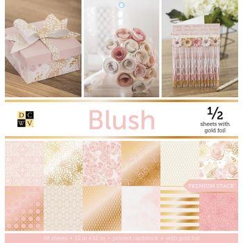 Набор односторонней бумаги Blush DCWV 30*30 см( 1/2 набора)