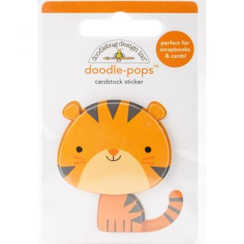 3D наклейка Tommy Tiger - Doodlebug Doodle-Pops 3D Stickers At The Zoo