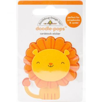 3D наклейка Leo Lion - Doodlebug Doodle-Pops 3D Stickers At The Zoo