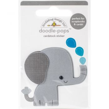 3D наклейка Eddie Elephant - Doodlebug Doodle-Pops 3D Stickers At The Zoo