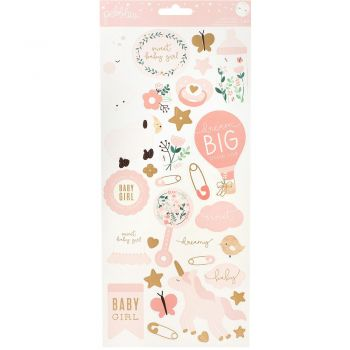 Наклейки Night Baby Girl Cardstock Stickers  (gold foil)