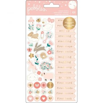 Наклейки Night Baby Girl Repeat Stickers (gold foil)