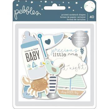 Набор высечек Night Baby Boy Ephemera Cardstock Die-Cuts