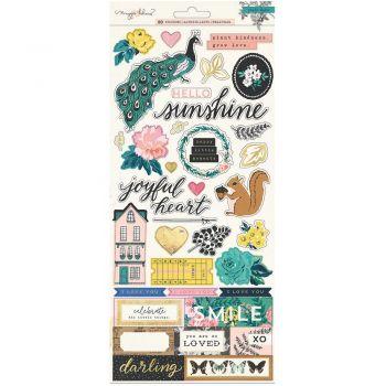 Наклейки Maggie Holmes Flourish Cardstock Stickers