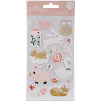 Наклейки  Night Baby Girl Puffy Stickers