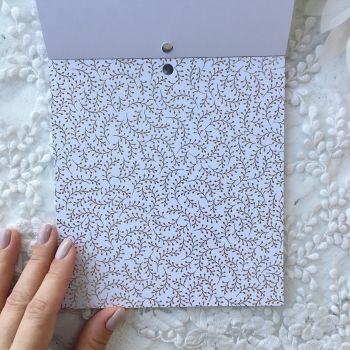 Лист односторонней бумаги  Gold Foil 15*15 см *9