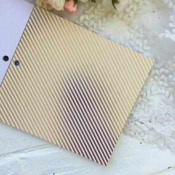 Лист односторонней бумаги  Gold Foil 15*15 см *5
