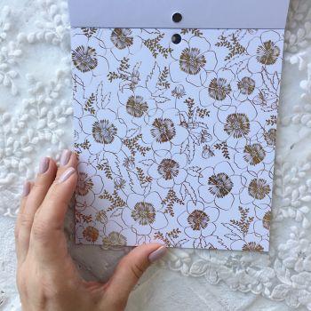 Лист односторонней бумаги  Gold Foil 15*15 см *11