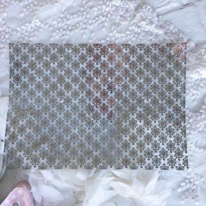 Ацетатный лист Hunkydory Sparkle & Shine Mirri Magic Foiled A4 Acetate * 4 Silver