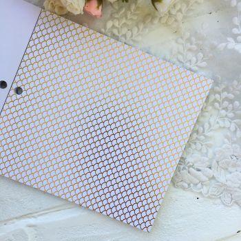 Лист односторонней бумаги  Gold Foil 15*15 см *7