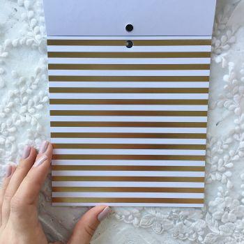 Лист односторонней бумаги  Gold Foil 15*15 см *12