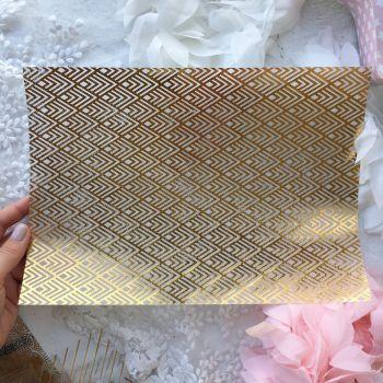 Лист веллума (кальки) Ultimate Crafts Foiled Vellum A4 Gold *6