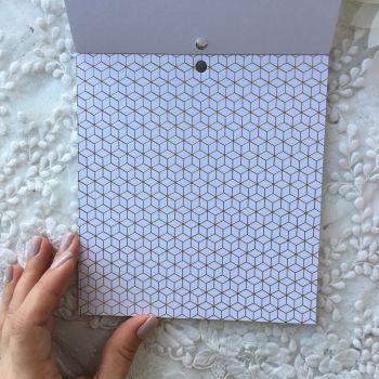 Лист односторонней бумаги  Gold Foil 15*15 см *6