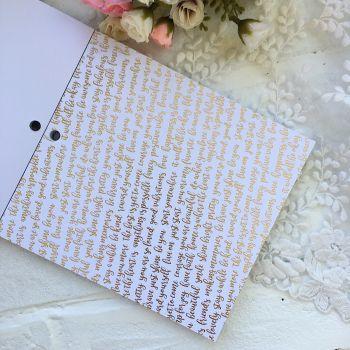 Лист односторонней бумаги  Gold Foil 15*15 см *4