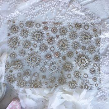 Ацетатный лист Hunkydory Sparkle & Shine Mirri Magic Foiled A4 Acetate *1 Gold