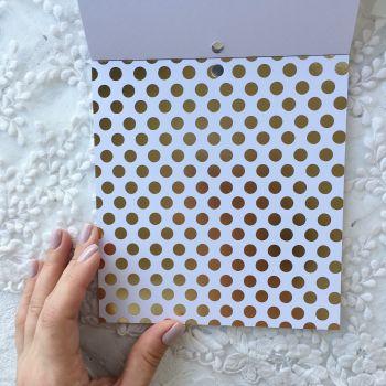 Лист односторонней бумаги  Gold Foil 15*15 см *8