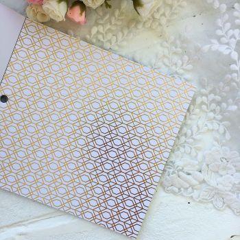 Лист односторонней бумаги  Gold Foil 15*15 см