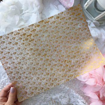 Лист веллума (кальки) Ultimate Crafts Foiled Vellum A4 Gold *2