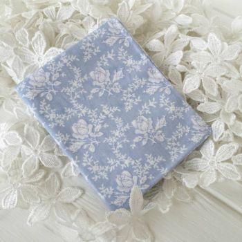 """Хлопковая ткань """"Розы"""". Цвет голубой"""