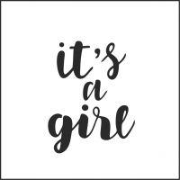 """Заготовка """" It's a girl"""""""