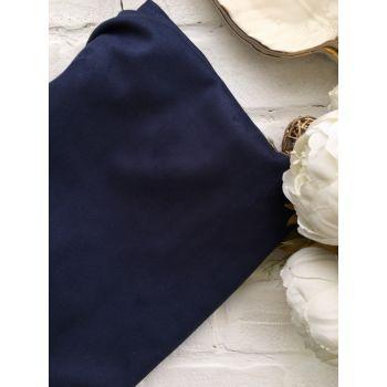 Искусственная замша стрейч двухсторонняя, цвет синий 25*30 см