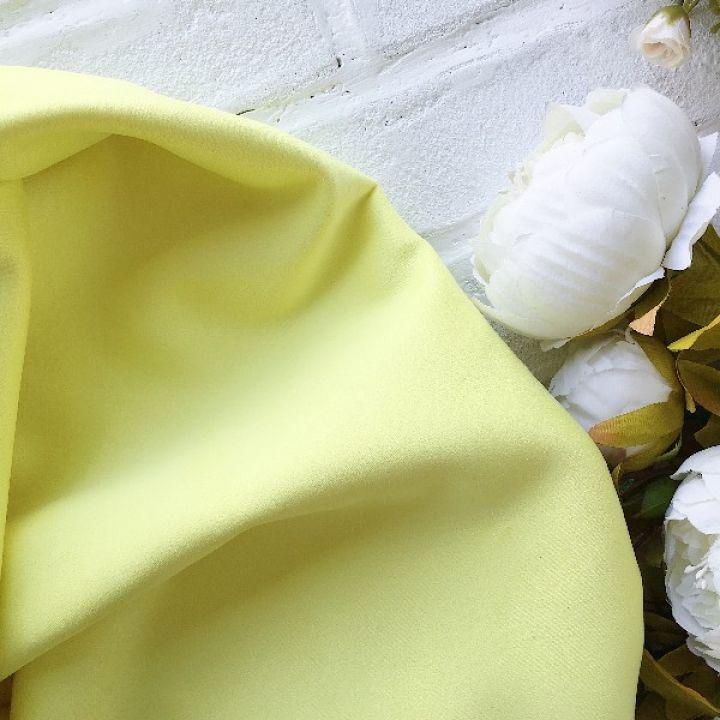 Искусственная замша стрейч, цвет лимонный 30*25 см