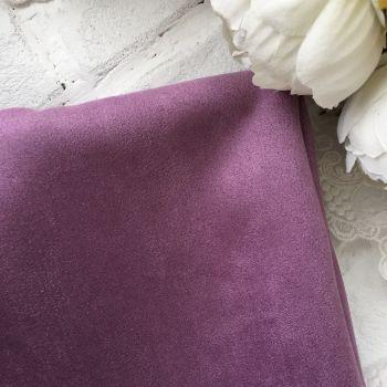 Искусственная замша стрейч на трикотажной основе, цвет лиловый 30*25