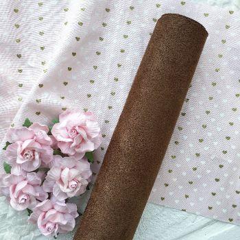 Искусственная замша стрейч, цвет пастельный коричневый 30*25 см
