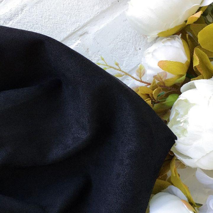 Искусственная замша стрейч, цвет черный 30*25 см