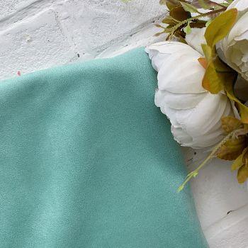 Искусственная замша стрейч на дайвинге, цвет зеленая мята 25*30