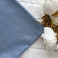 Искусственная замша стрейч двухсторонняя, цвет пастельный голубой 25*30 см