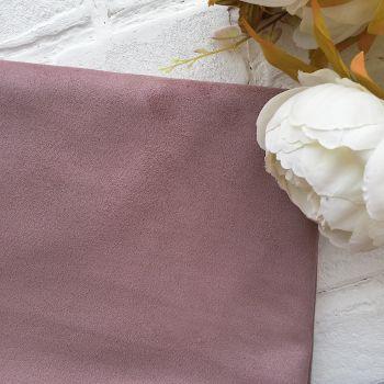 Искусственная замша стрейч двухсторонняя, цвет пастельный розово-бежевый 25*30 см