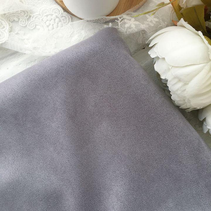Искусственная замша стрейч на трикотажной основе, цвет серый 30*25