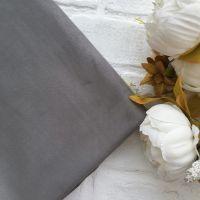 Искусственная замша стрейч двухсторонняя, цвет серый 25*30 см