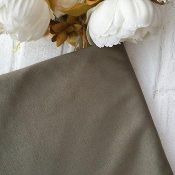 Искусственная замша стрейч двухсторонняя, цвет пастельный оливковый 25*30 см