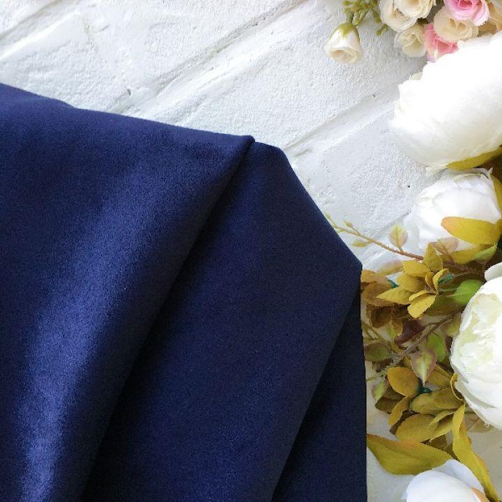 Искусственная замша стрейч, цвет синий 30*25 см