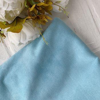 Искусственная замша стрейч на дайвинге, цвет светло-голубой 25*30