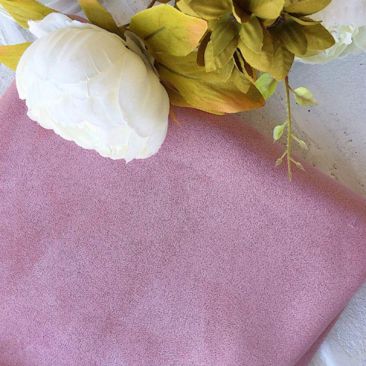 Искусственная замша стрейч, цвет пастельный розовый 30*25 см