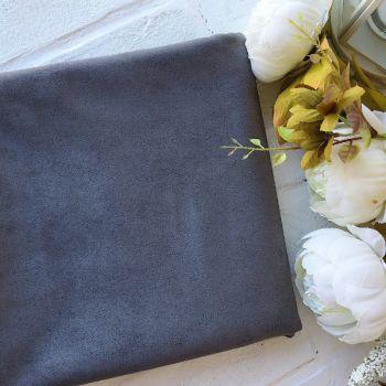 Искусственная замша стрейч, цвет серый 27*25 см